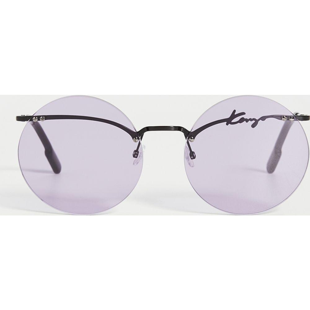ケンゾー KENZO レディース メガネ・サングラス ラウンド【Rimless Oversized Round Sunglasses】Violet/Shiny Black