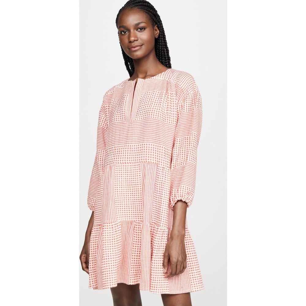 レムレム Lemlem レディース ビーチウェア ワンピース・ドレス 水着・ビーチウェア【Semira Popover Dress】Orange Red