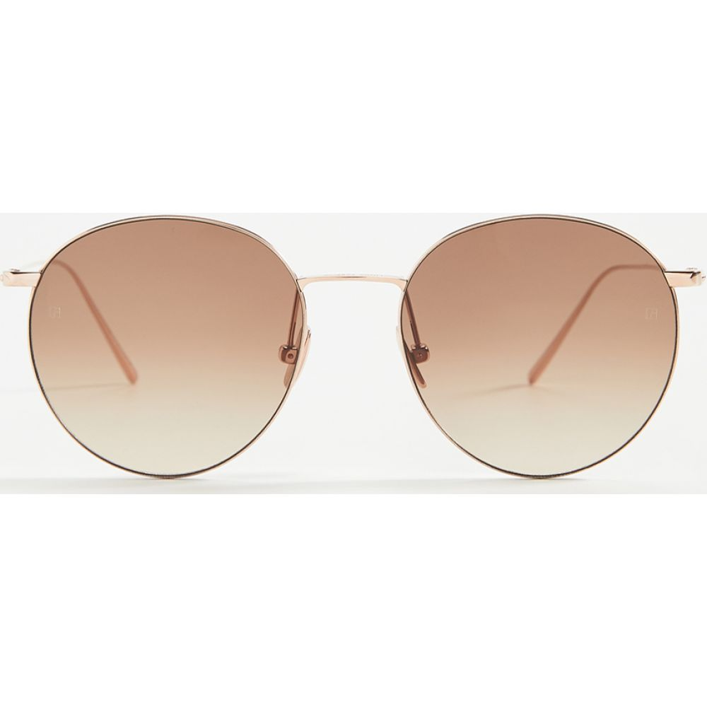 リンダ ファロー Linda Farrow Luxe レディース メガネ・サングラス アビエイター【Linda Farrow Classic Aviator Sunglasses】Rose Gold/Brown Grad