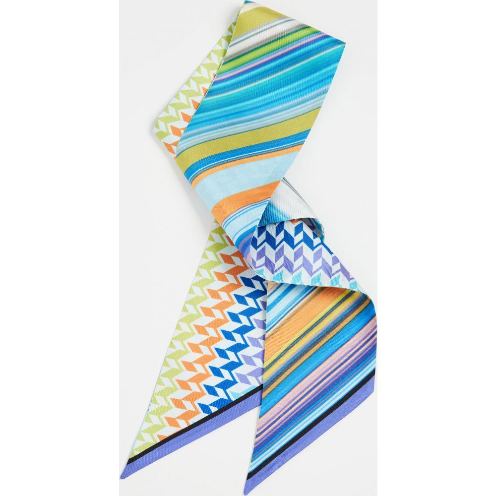 ミッソーニ Missoni レディース ヘアアクセサリー ヘッドバンド【Silk Tie Headband】Multi Purple/Turquoise