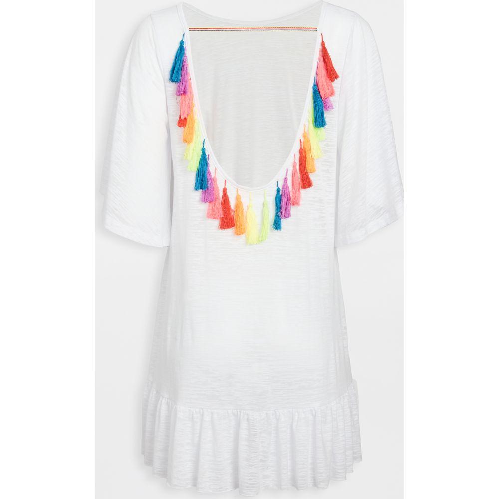 ピトゥサ Pitusa レディース ビーチウェア ワンピース・ドレス 水着・ビーチウェア【Tassel Back Mini Dress】White