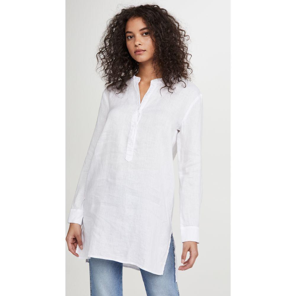 ステートサイド Stateside レディース チュニック トップス【Linen Button Up Tunic】White