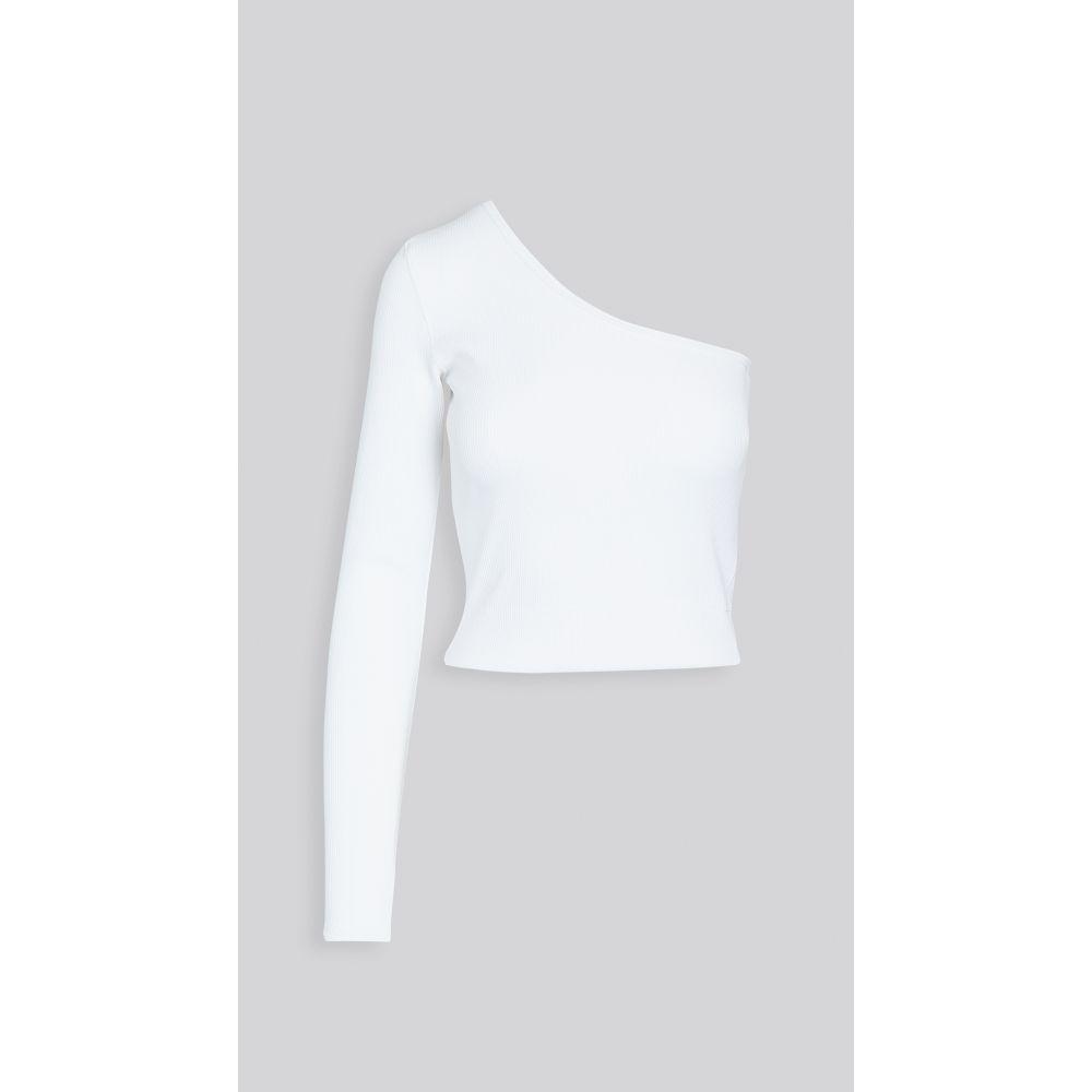 ベイシーク Bassike レディース ベアトップ・チューブトップ・クロップド トップス【rib one shoulder crop top】White