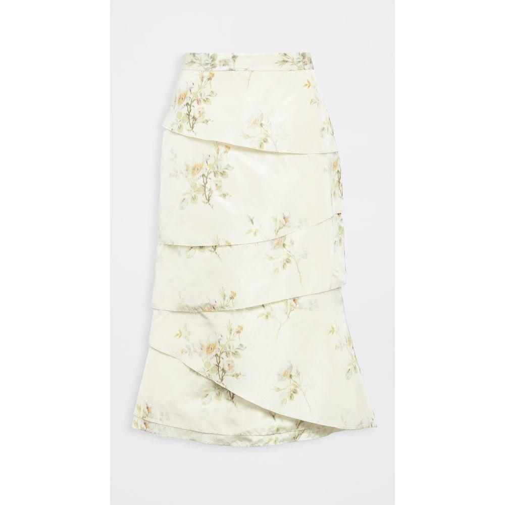 ブロック コレクション Brock Collection レディース スカート ティアードスカート【fantasy chine tiered skirt】Ivory Multi