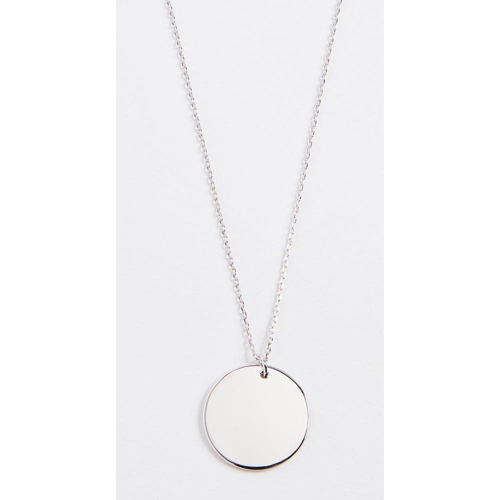 クローバーポスト Cloverpost レディース ネックレス ジュエリー・アクセサリー【circle medallion necklace】White Gold