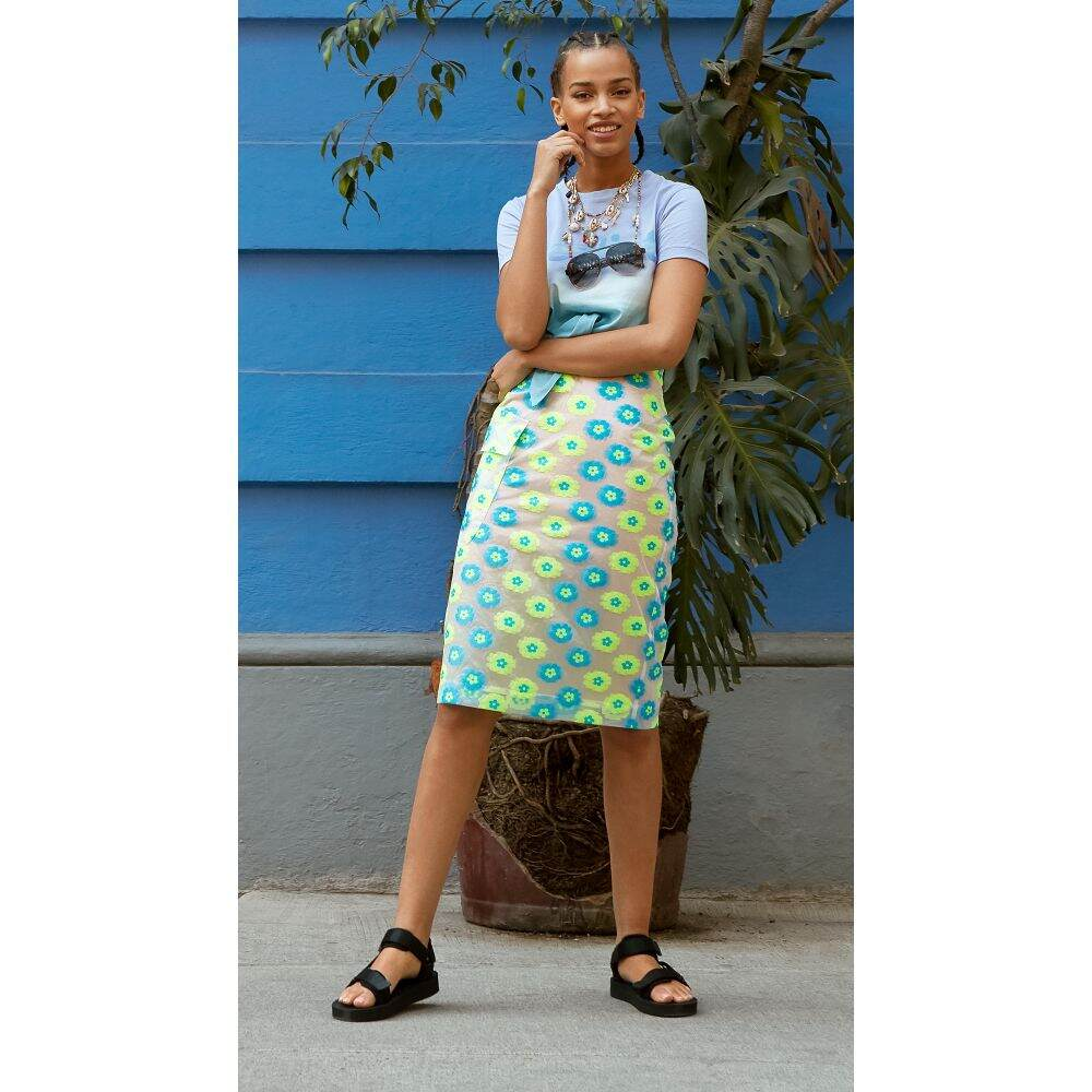 midi Antwerp ペンシルスカート ひざ丈スカート エッセンシャル スカート【vades Yellow pencil skirt】Fluo レディース Essentiel
