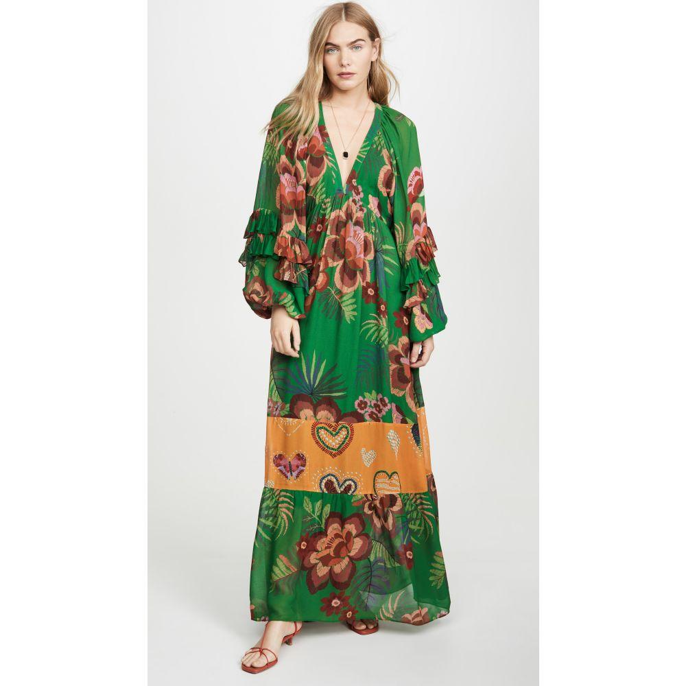ファーム FARM Rio レディース ワンピース ワンピース・ドレス【artisanal floral long dress】Artisinal Floral