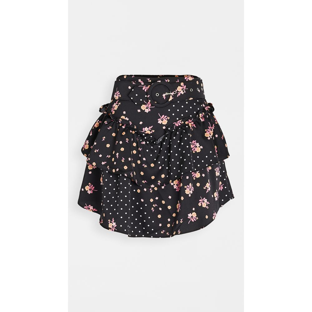 フォーラブアンドレモン For Love & Lemons レディース ミニスカート スカート【camellia miniskirt】Black