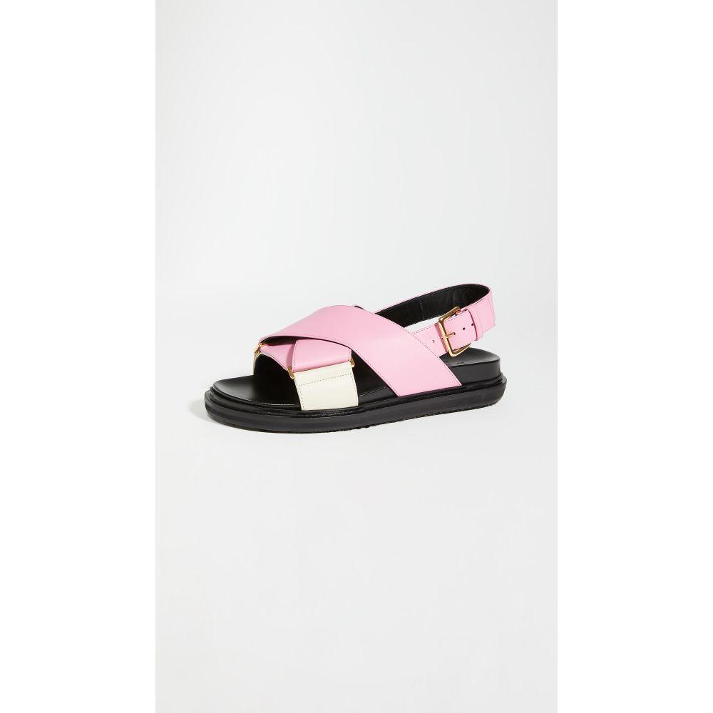 マルニ Marni レディース サンダル・ミュール シューズ・靴【crisscross fussbett sandals】Pink Candy/Silk White