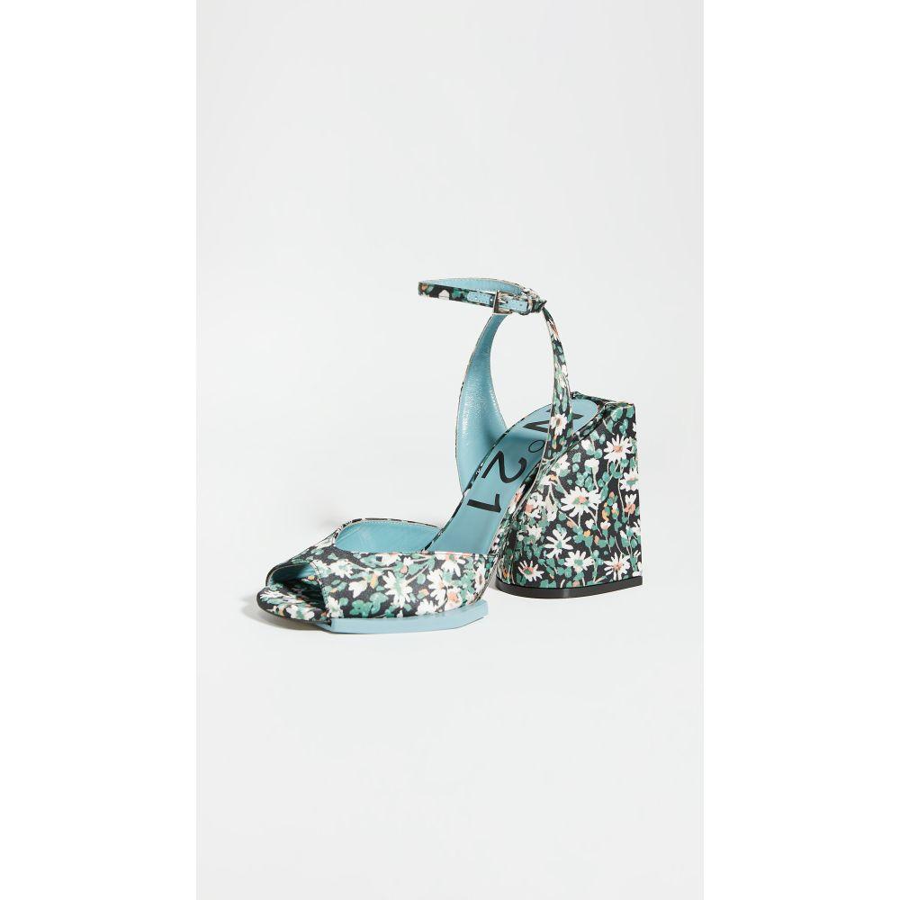ヌメロ ヴェントゥーノ No. 21 レディース サンダル・ミュール シューズ・靴【floral sandals】Daisy Black