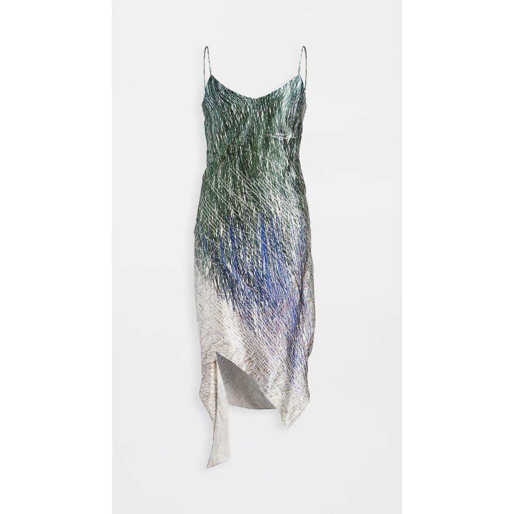 Off-White ワンピース オフホワイト spiral slip スリップドレス レディース Black dress】Grey ワンピース・ドレス【bouroullec