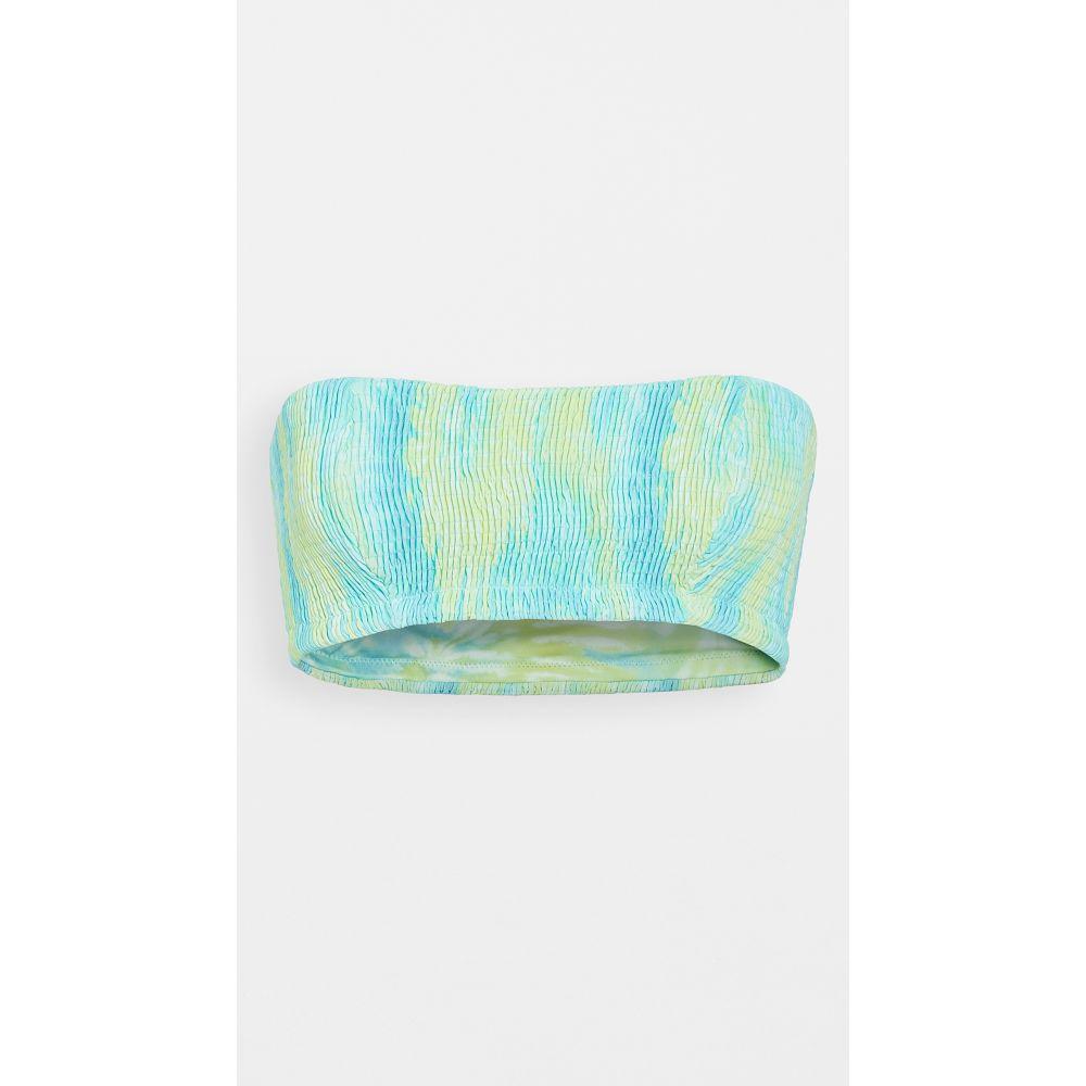 ペイショット Peixoto レディース トップのみ 水着・ビーチウェア【smocked kara bandeau bikini top】Lagoon Tie Dye