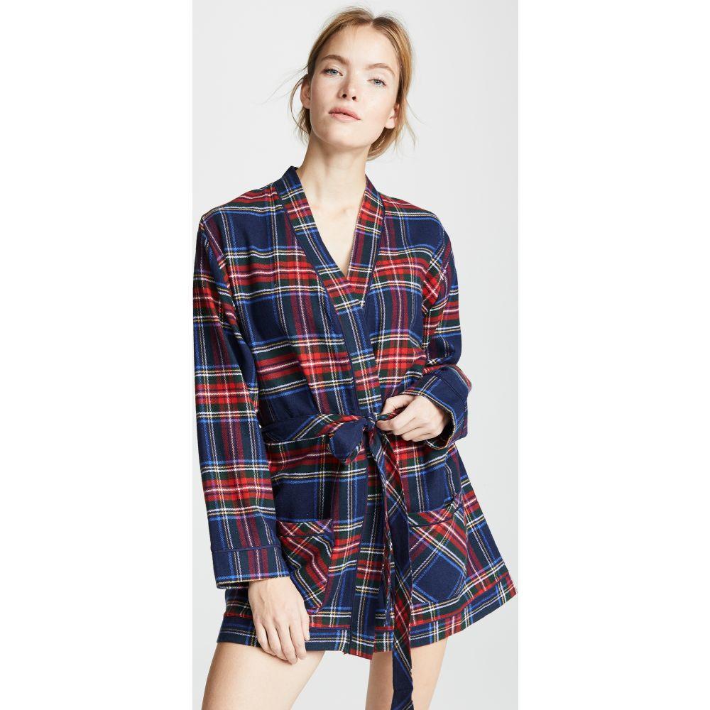 プラッシュ Plush レディース ガウン・バスローブ インナー・下着【ultra soft flannel robe】Navy/Red Plaid