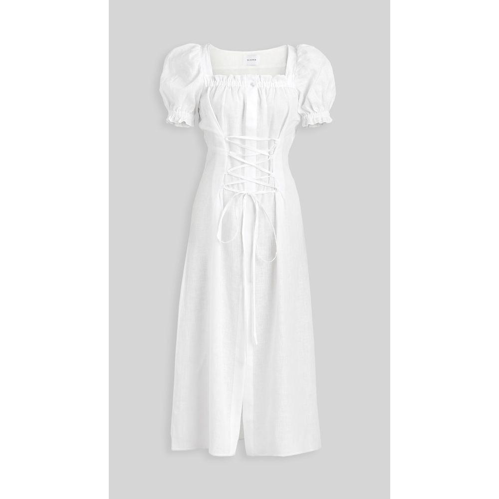 スリーパー Sleeper レディース ワンピース ワンピース・ドレス【marquise linen dress】White