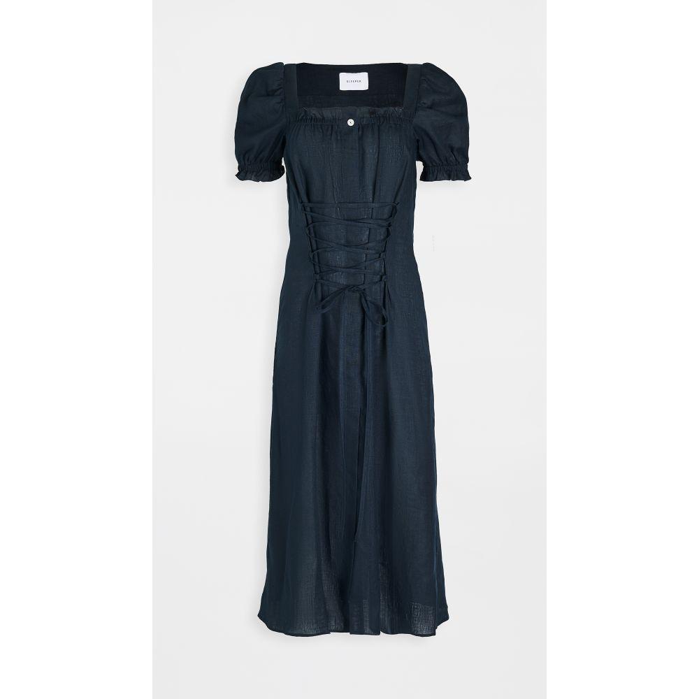 スリーパー Sleeper レディース ワンピース ワンピース・ドレス【marquise linen dress】Navy