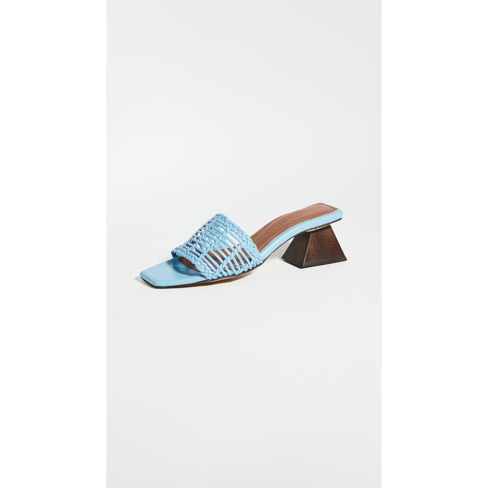 スリアーズ マルティネス Souliers Martinez レディース サンダル・ミュール シューズ・靴【55mm celia persiana slides】Sky Blue