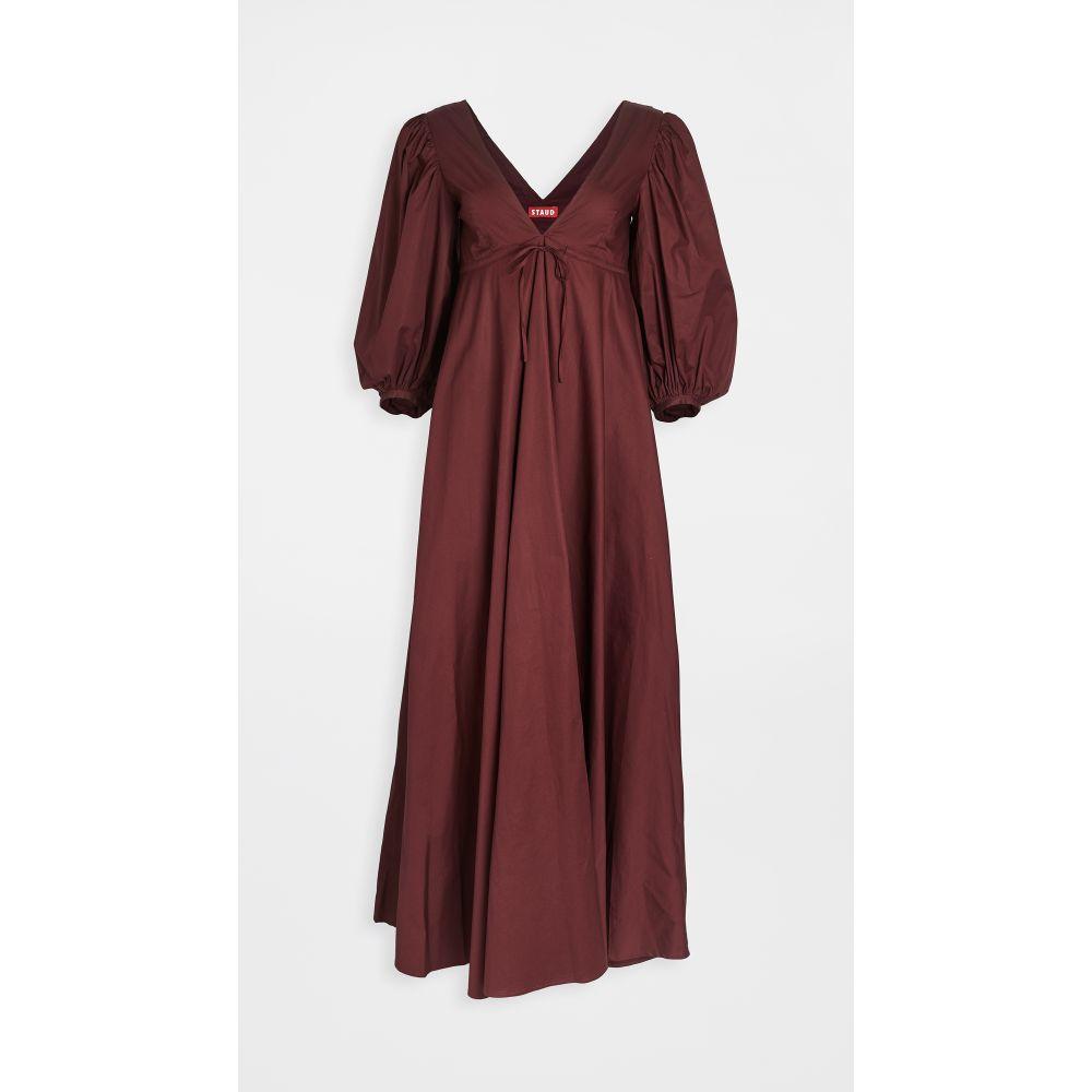 スタウド STAUD レディース ワンピース ワンピース・ドレス【amaretti dress】Tawny Port