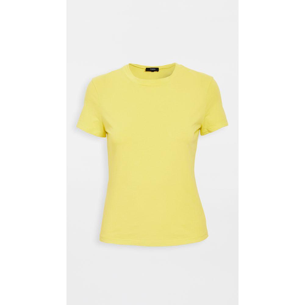 セオリー Theory レディース Tシャツ トップス【tiny tee】Bright Lime