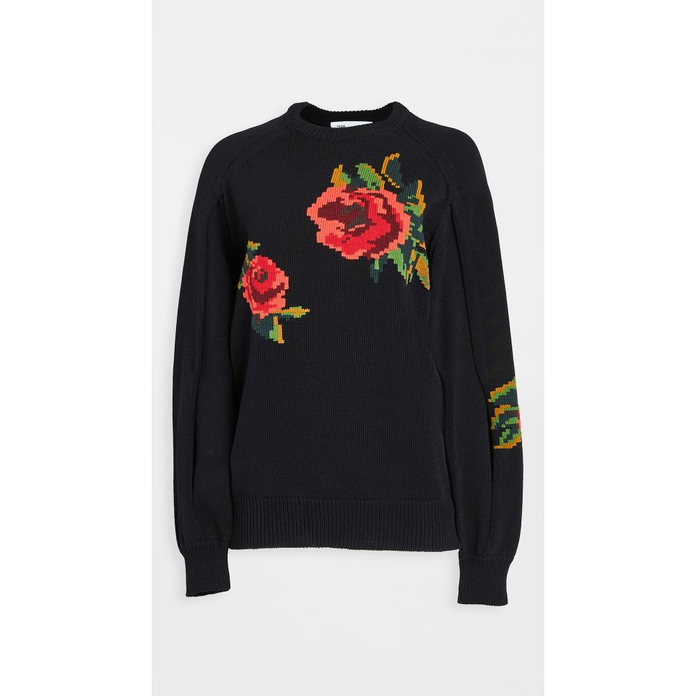 トーガ Toga Pulla レディース ニット・セーター トップス【intarsia knit pullover】Black