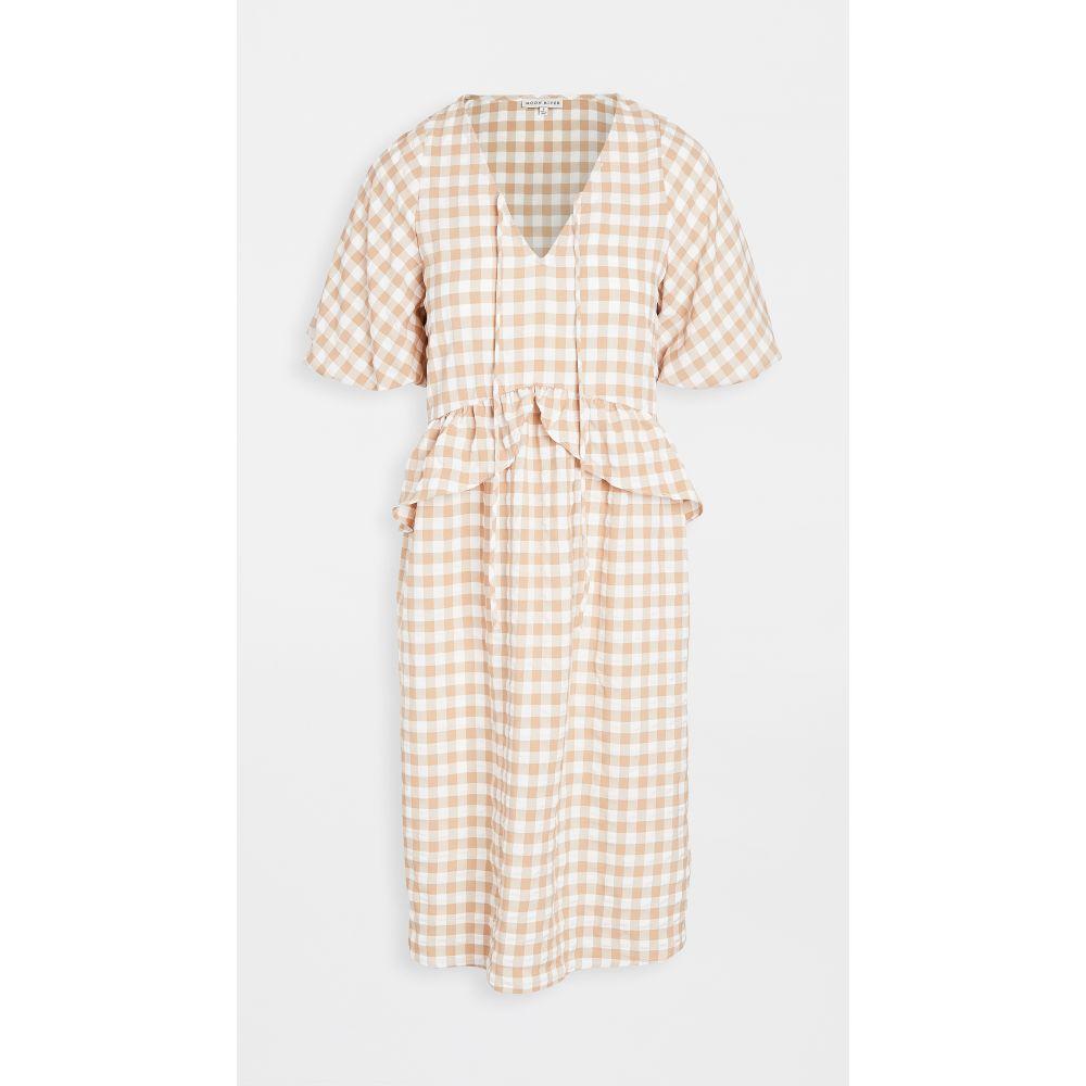 ムーンリバー Moon River レディース ワンピース ワンピース・ドレス【Drop Waist Dress】Beige Multi