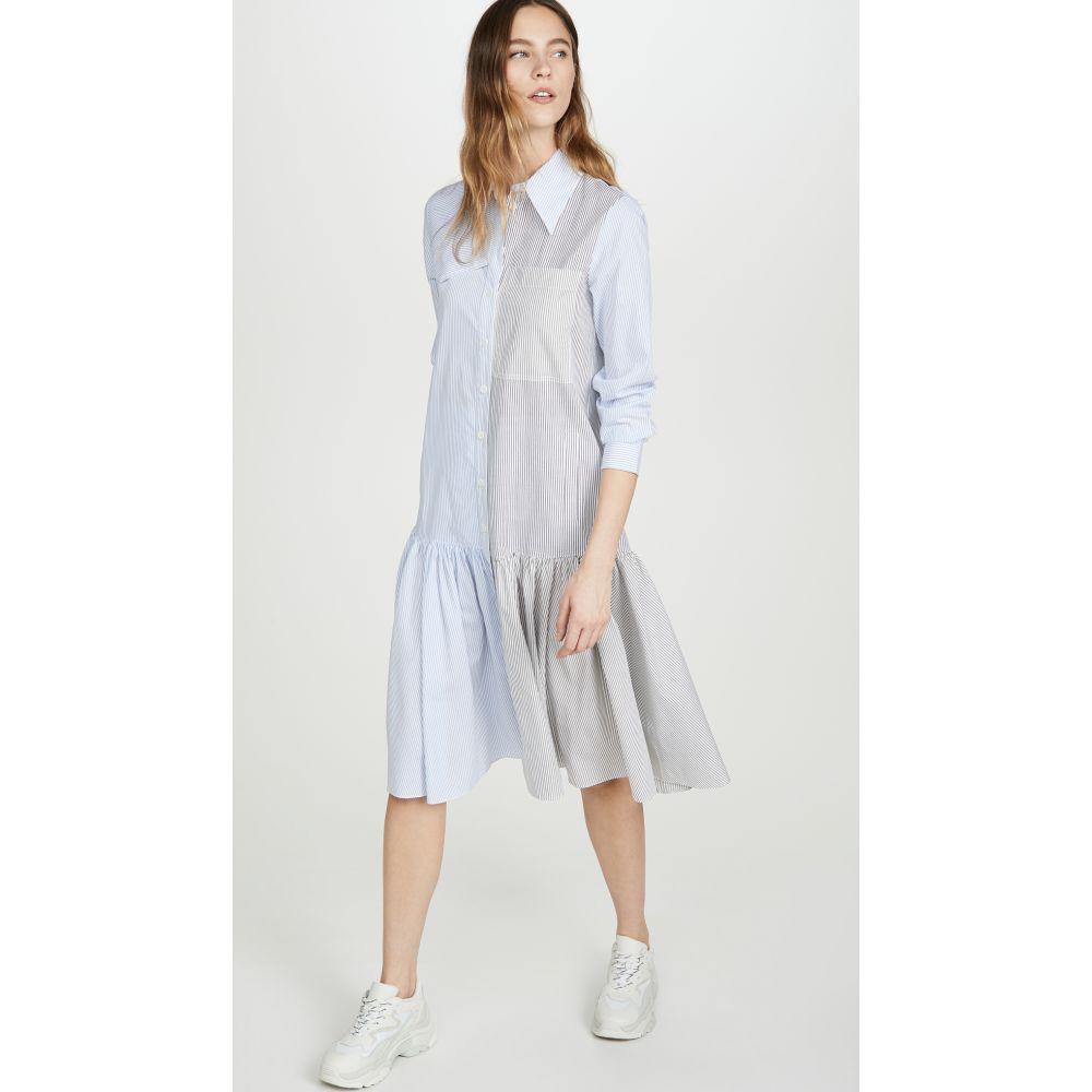 ティビ Tibi レディース ワンピース シャツワンピース ワンピース・ドレス【Colorblock Shirtdress】Blue Multi