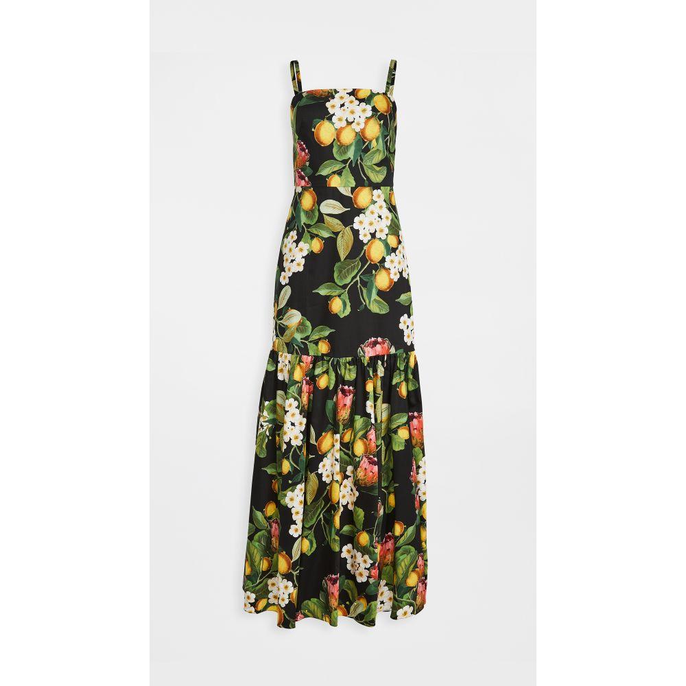 ノア ド ボルゴ Borgo de Nor レディース ワンピース ワンピース・ドレス【Cordelia Strap Summer Dress】Lemon Blossom Black
