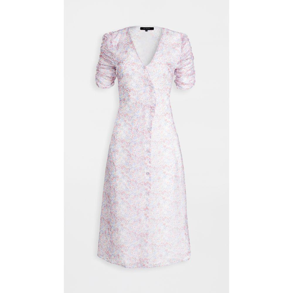 エン セゾン En Saison レディース ワンピース ラップドレス ワンピース・ドレス【Floral Print Wrap Button Down Dress】Pink