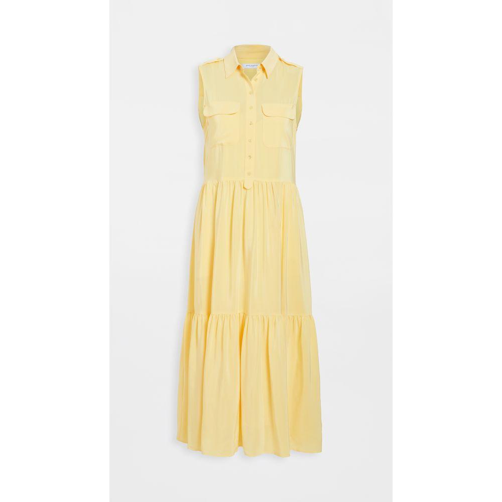 エキプモン Equipment レディース ワンピース ワンピース・ドレス【Allix Dress】Yellow Cream