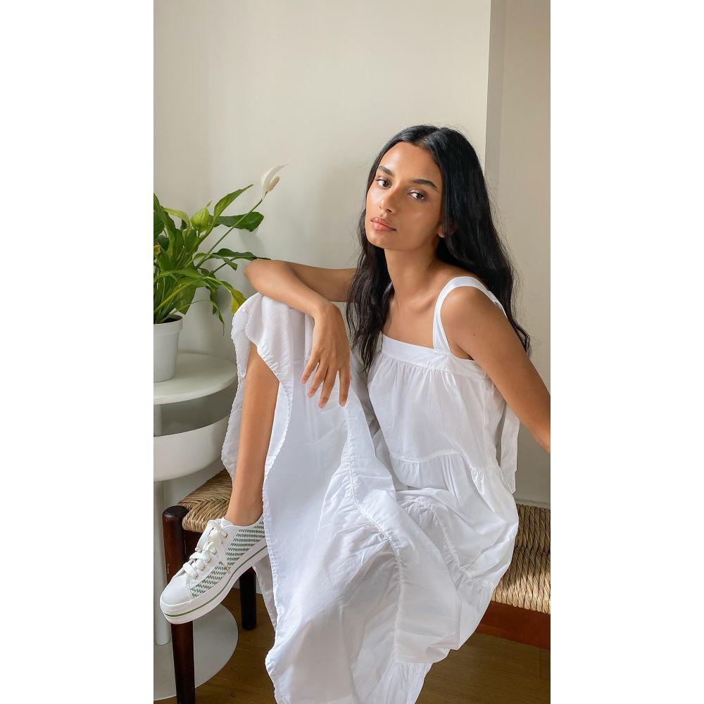 ネーション Nation LTD レディース ワンピース ティアードドレス ワンピース・ドレス【Amelia Tiered Dress】White