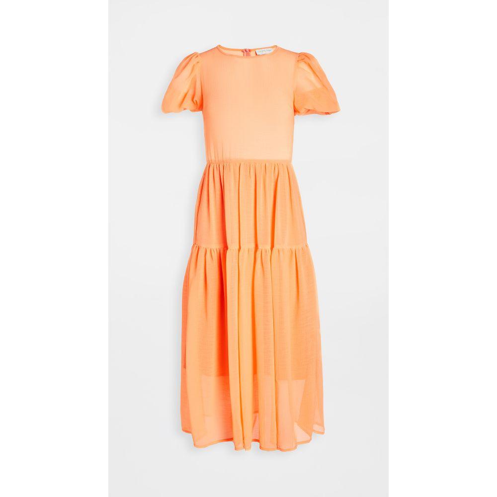 ネバーフリードレス Never Fully Dressed レディース ワンピース ティアードドレス ワンピース・ドレス【Tiered Midi Dress】Orange