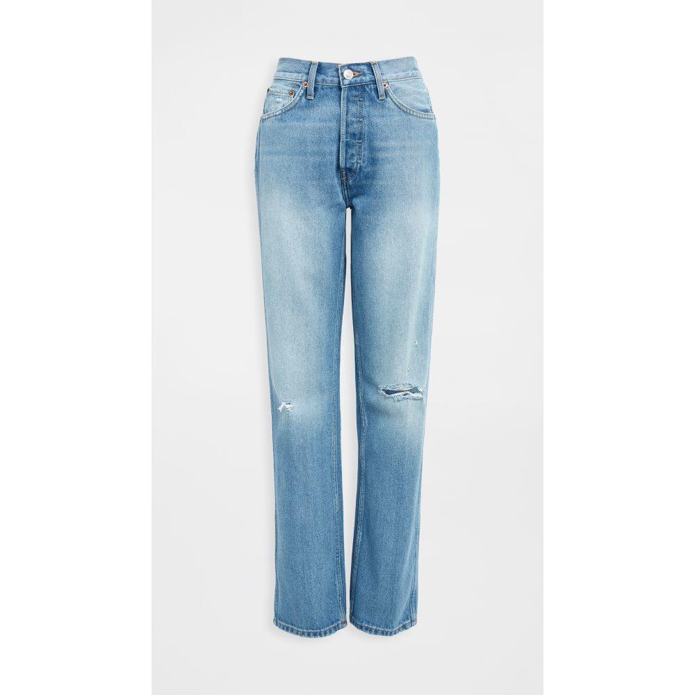リダン RE/DONE レディース ジーンズ・デニム ボトムス・パンツ【90s High Rise Loose Jeans】Light Destroyed
