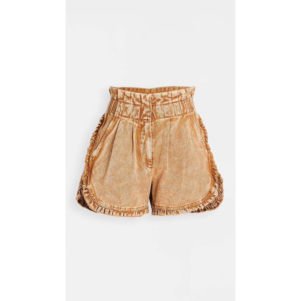 シー Sea レディース ショートパンツ デニム ボトムス・パンツ【Idun Denim Ruffle Shorts】Sable
