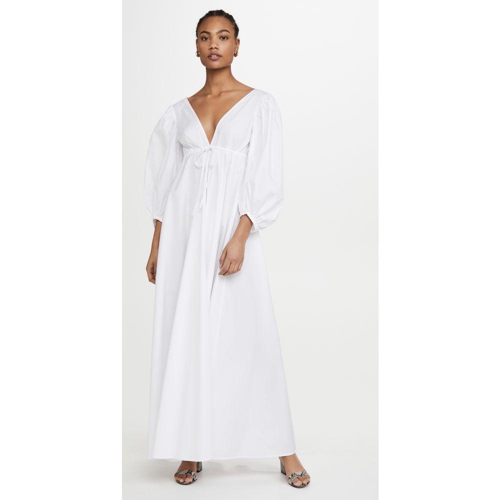 スタウド STAUD レディース ワンピース ワンピース ドレス Amaretti Dress White 開業祝 法事 新居祝い