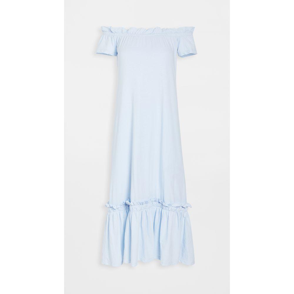 サンドリー SUNDRY レディース ワンピース マキシ丈 ワンピース・ドレス【Off Shoulder Maxi Dress】Sky