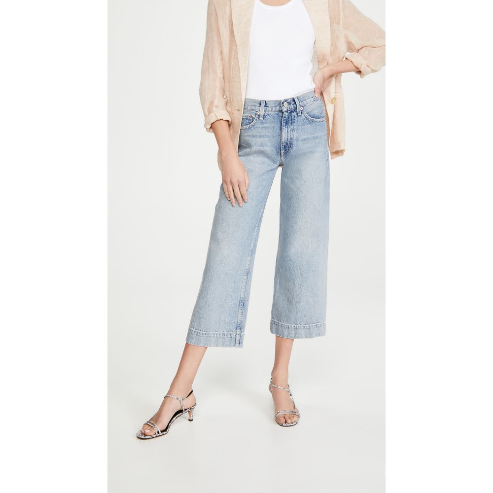 TRAVE レディース ジーンズ・デニム ワイドパンツ ボトムス・パンツ【Audrey Crop Wide Leg Jeans】Straight Shooter