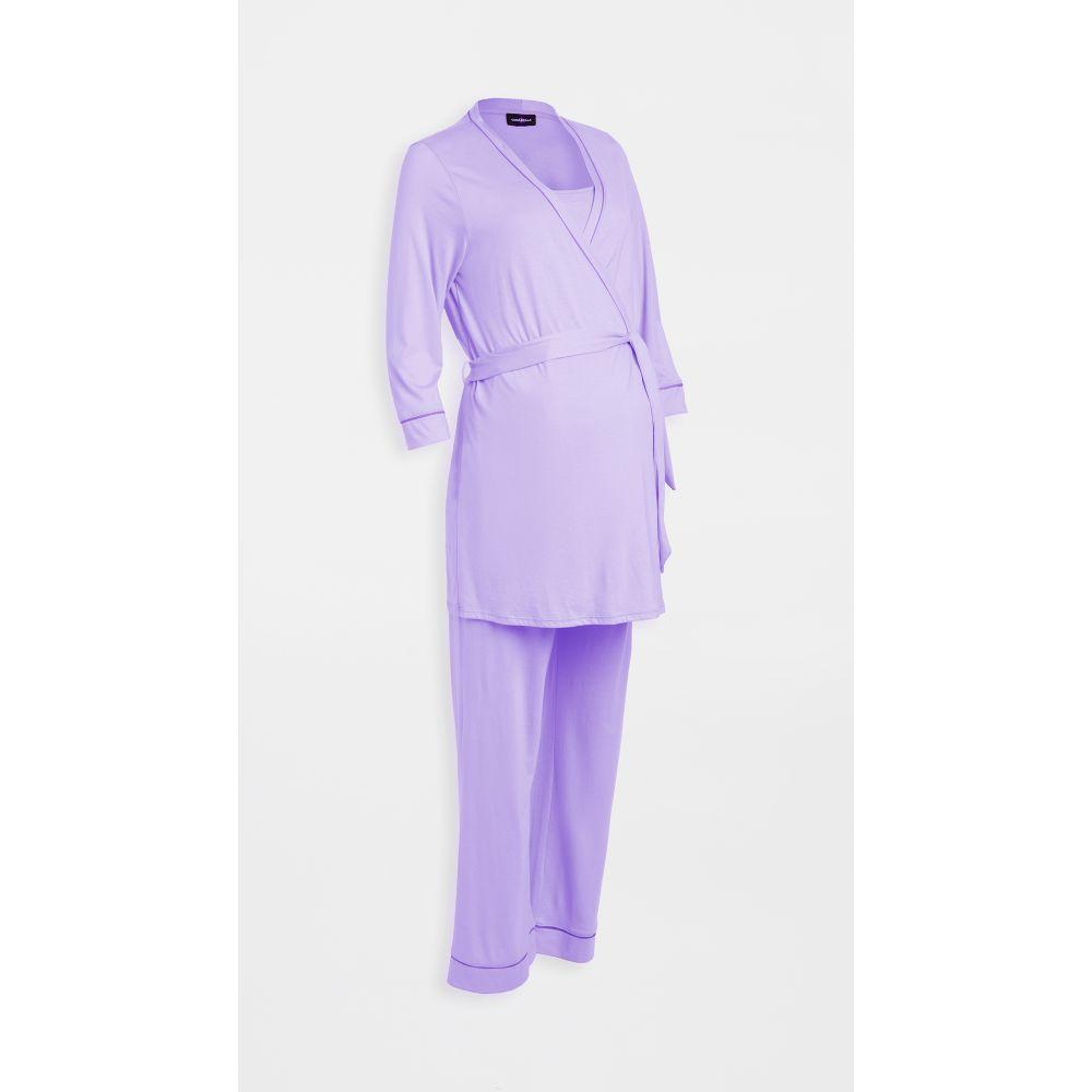 コサベラ Cosabella レディース パジャマ・上下セット マタニティウェア 3点セット インナー・下着【Bella Pima Maternity 3 Piece Set】Tuscan Lavender/Jelly