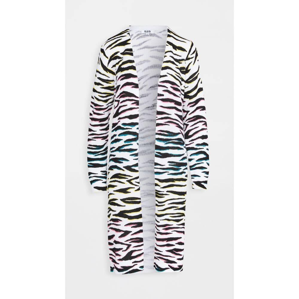 525 レディース カーディガン ロングカーディガン トップス【Long Zebra Cardigan】Multi