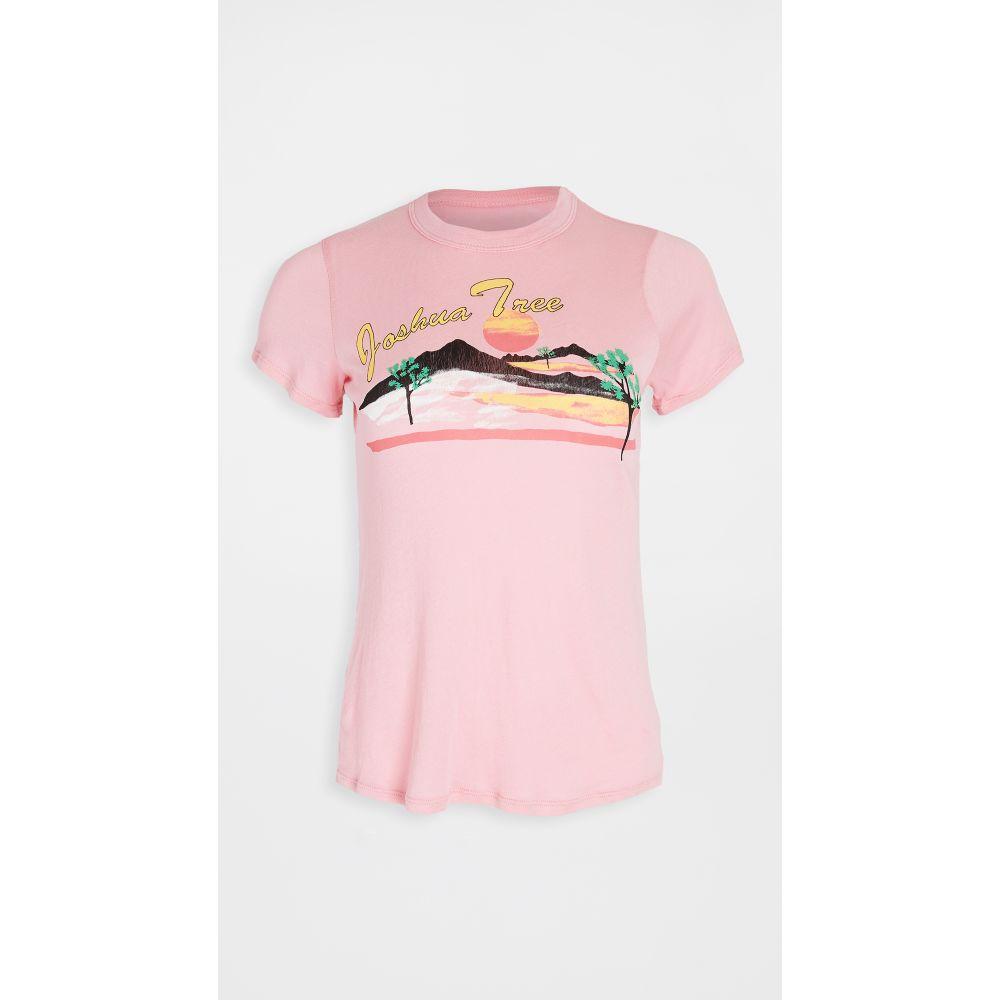 チェイサー Chaser レディース Tシャツ トップス【Gauzy Cotton Jersey Basic Slim Tee】Rosy