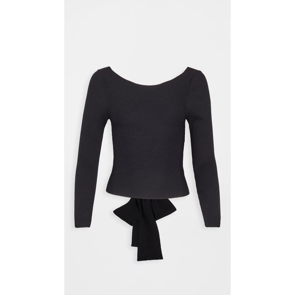 525 レディース ニット・セーター トップス【Tie Back Knit Top】Black