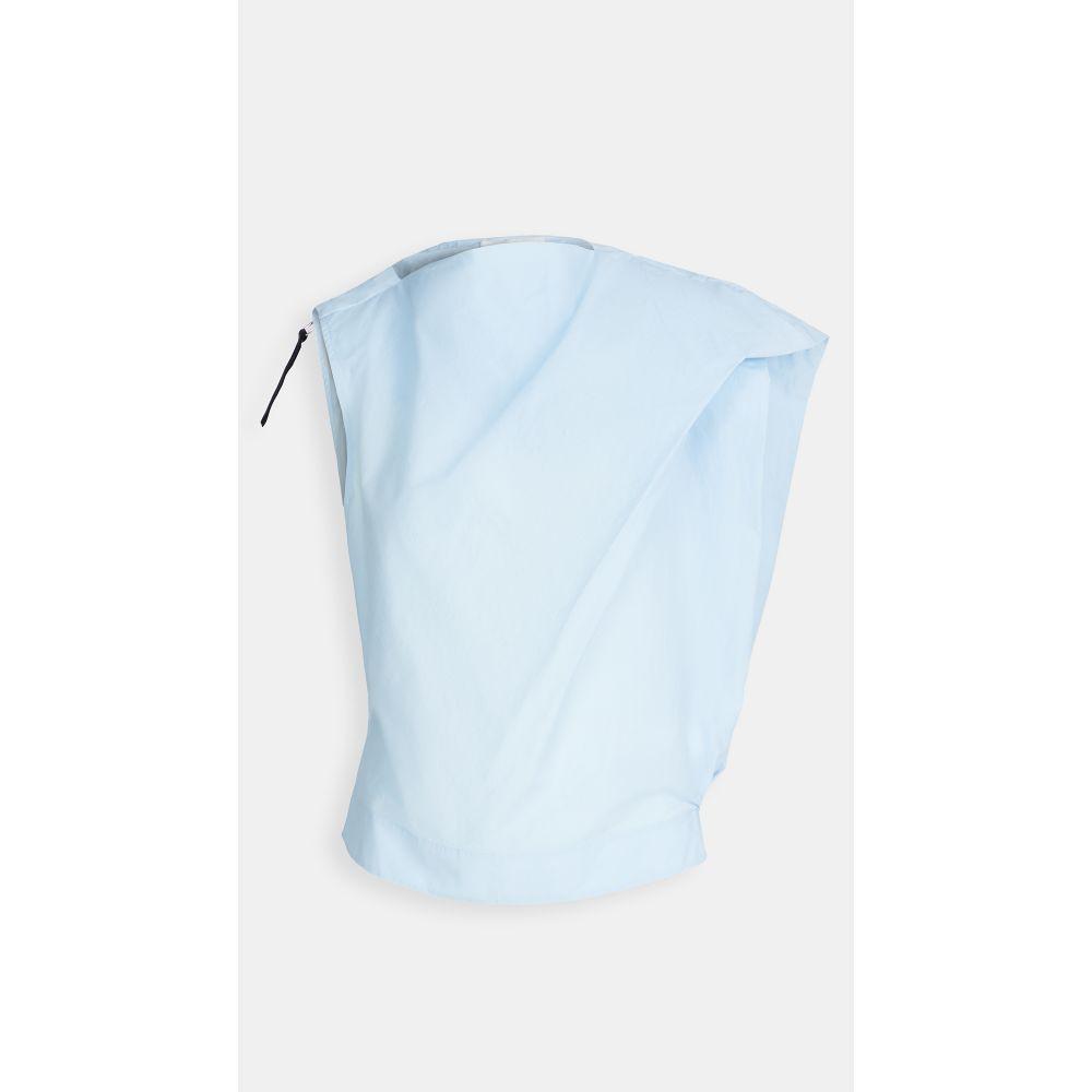 スリーワン フィリップ リム 3.1 Phillip Lim レディース トップス 【Airy Cotton Asymmetric Top】Pale Sky