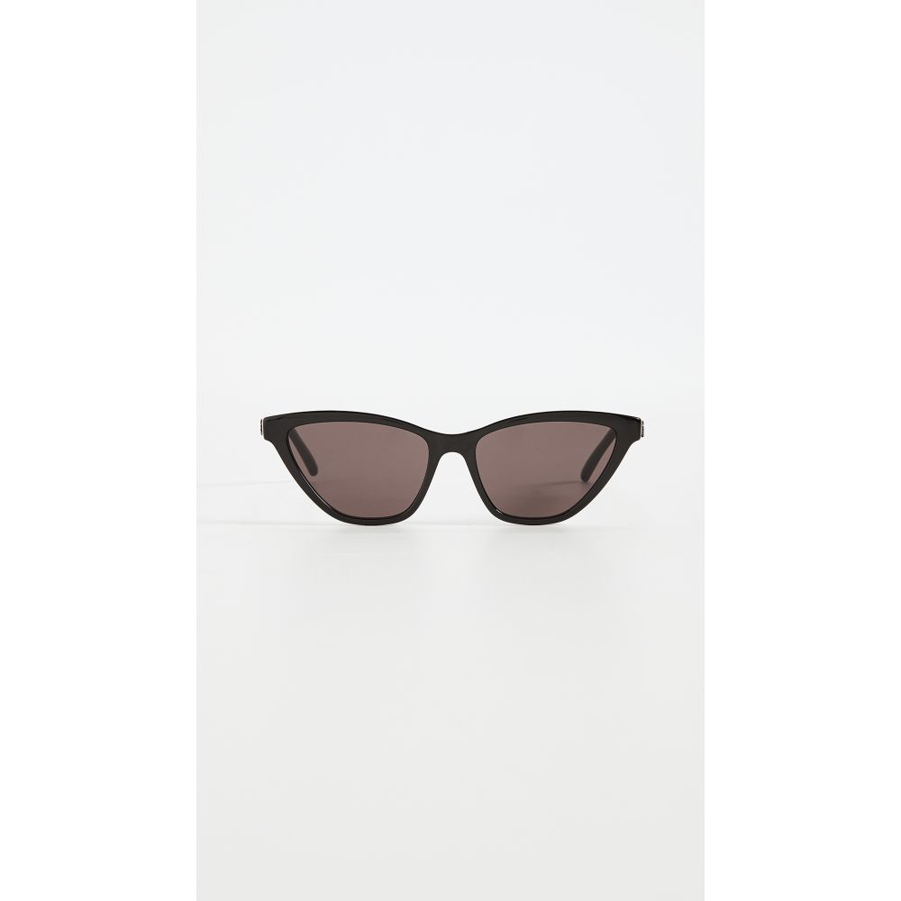 イヴ サンローラン Saint Laurent レディース メガネ・サングラス 【SL333 Sunglasses】Shiny Black