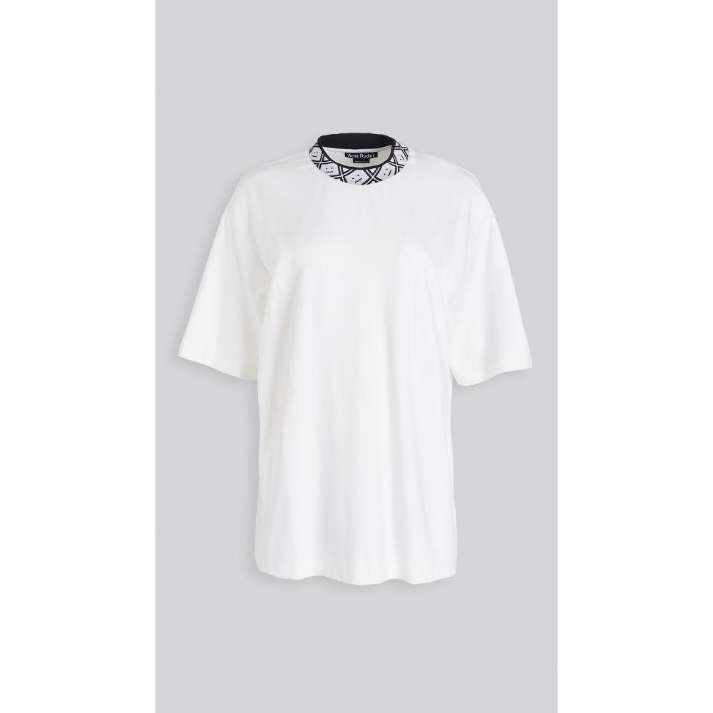 アクネ ストゥディオズ Acne Studios レディース Tシャツ トップス【Eternal Rib Face T-Shirt】Optic White