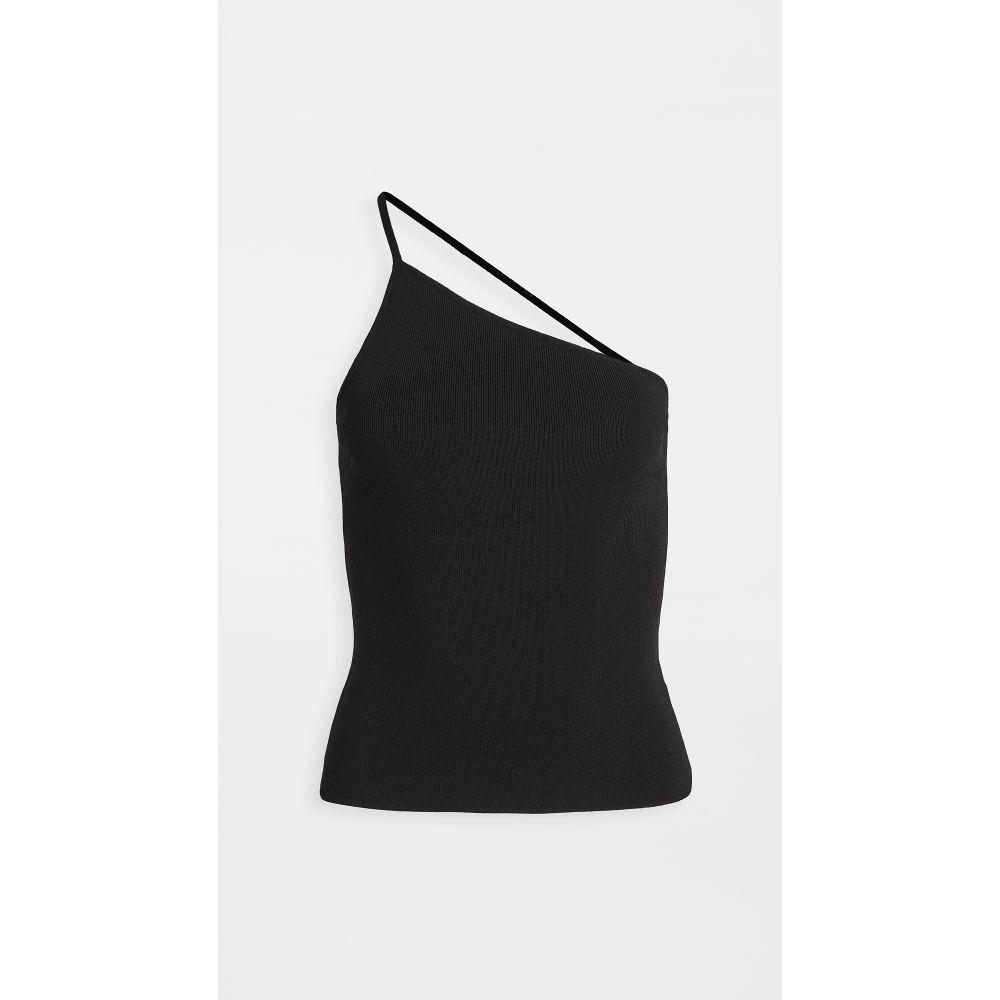 トップス Deveaux デヴォー Knit 【One Top】Black Viscose レディース Shoulder