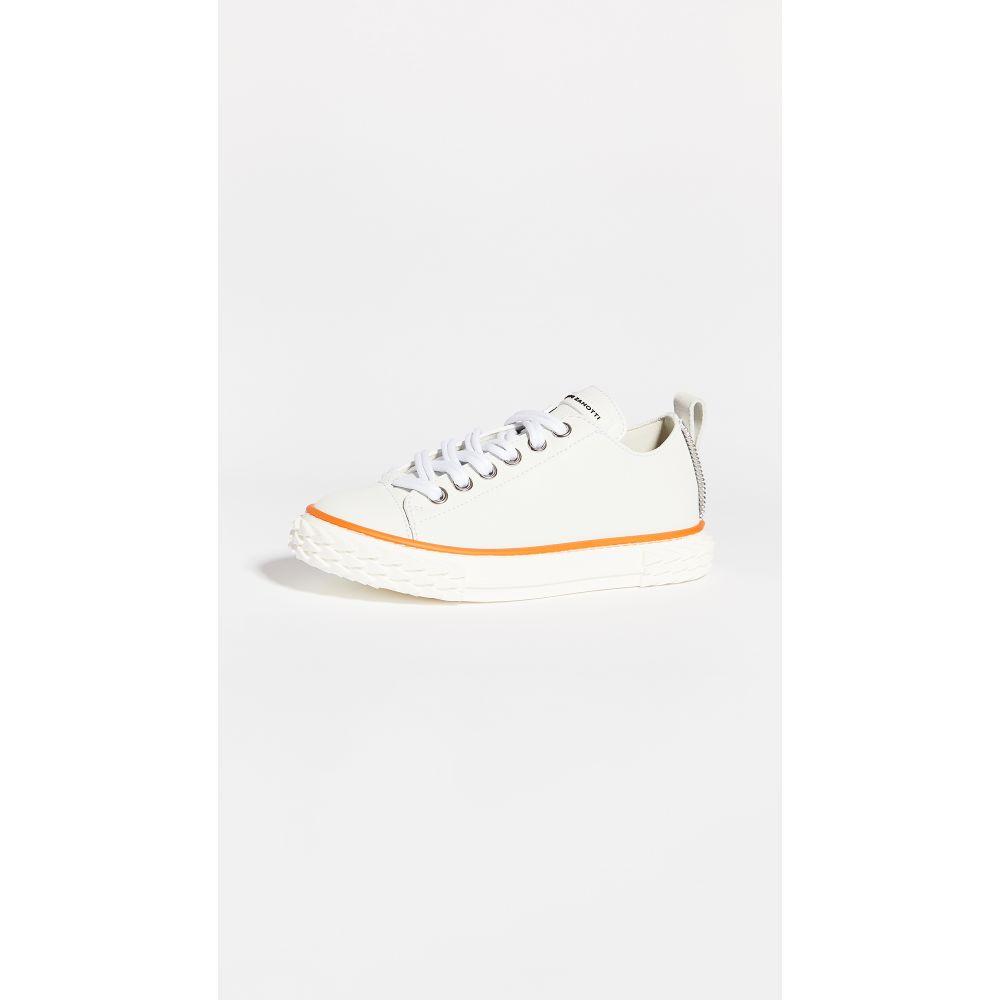 ジュゼッペ ザノッティ Giuseppe Zanotti レディース スニーカー レースアップ シューズ・靴【Lace Up Sneakers】White/Sunset