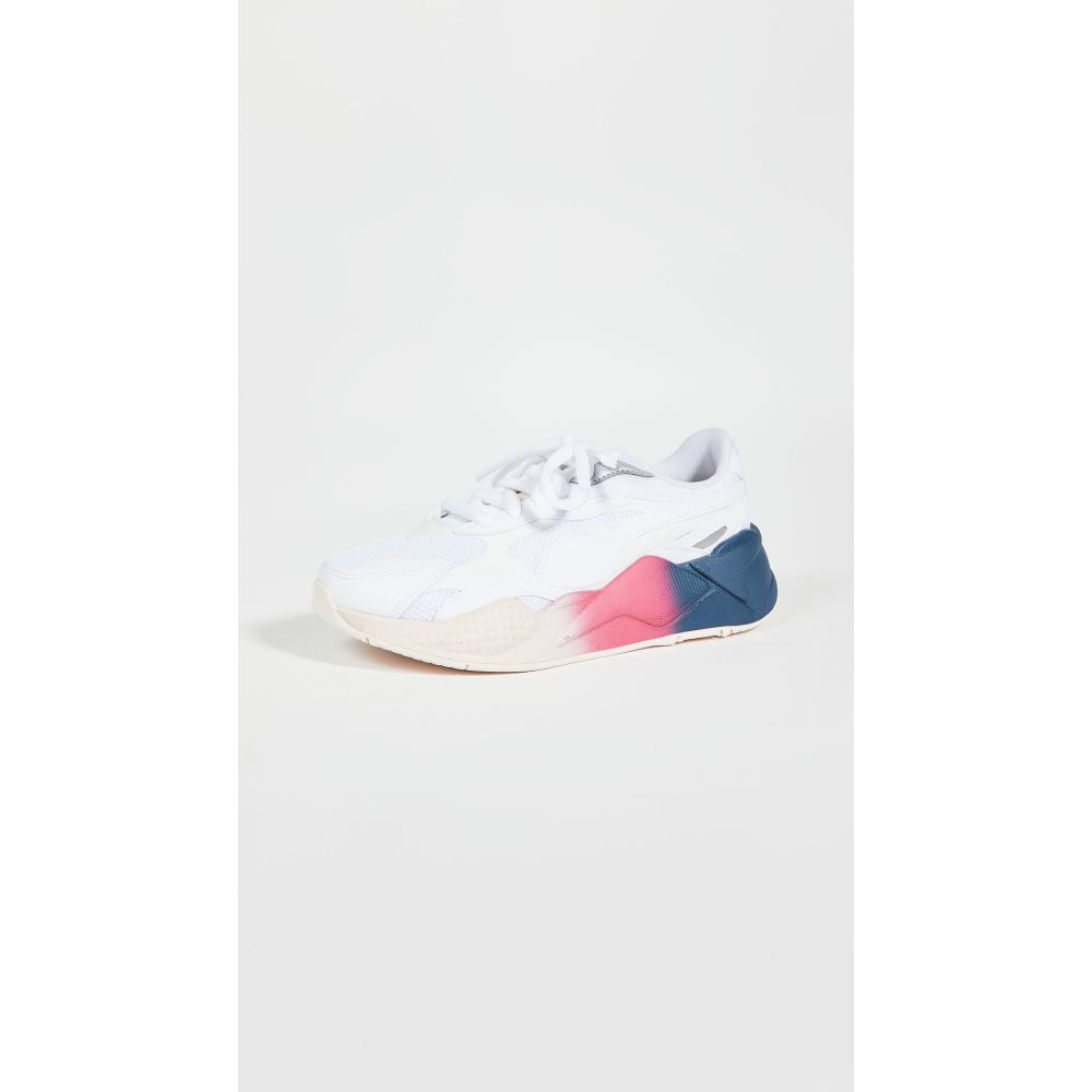 プーマ PUMA レディース スニーカー シューズ・靴【RS-X3 White Leather Sneakers】White/Rosewater