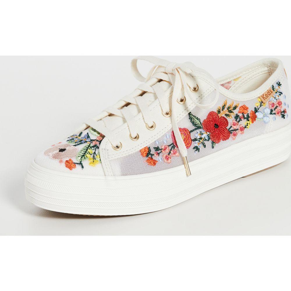 ケッズ Keds レディース スニーカー シューズ・靴【Triple Kick Embroidered Mesh Sneakers】White Multi