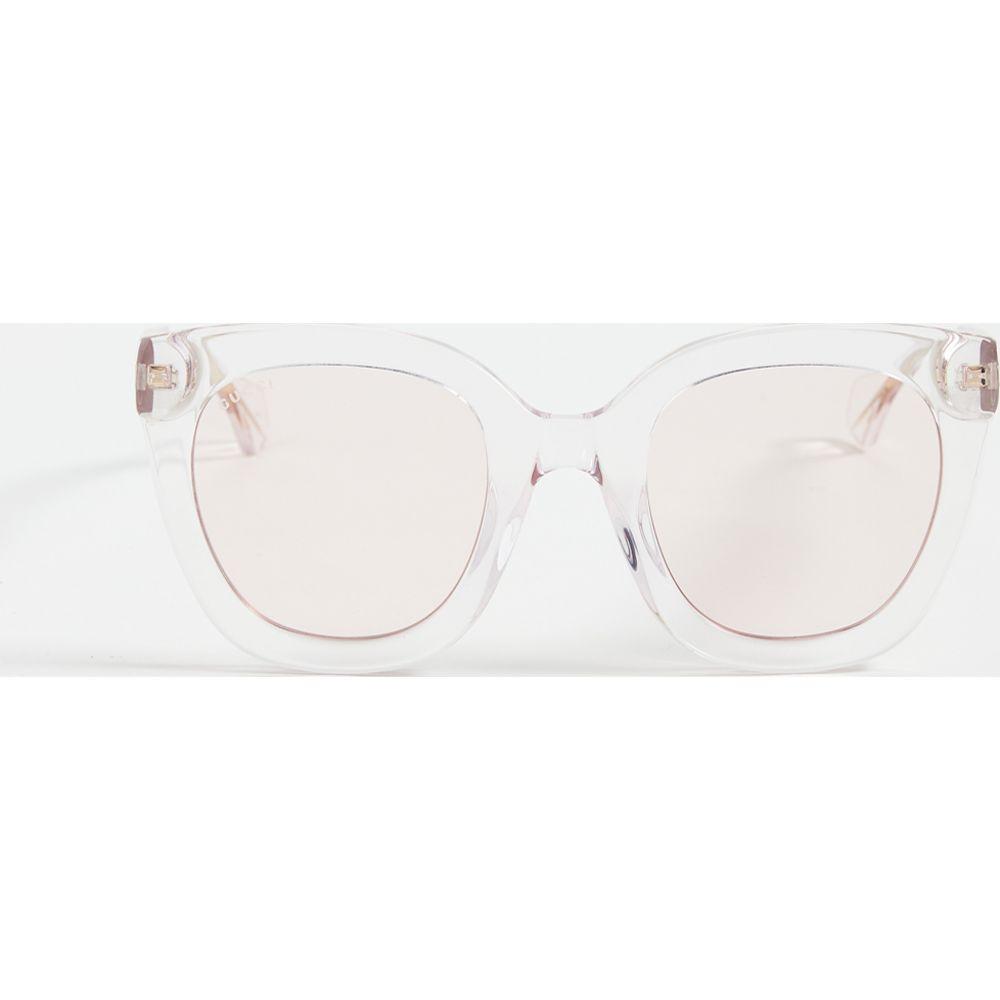グッチ Gucci レディース メガネ・サングラス スクエアフレーム【Anima Decor Square Sunglasses】Transparent Pink/Pink