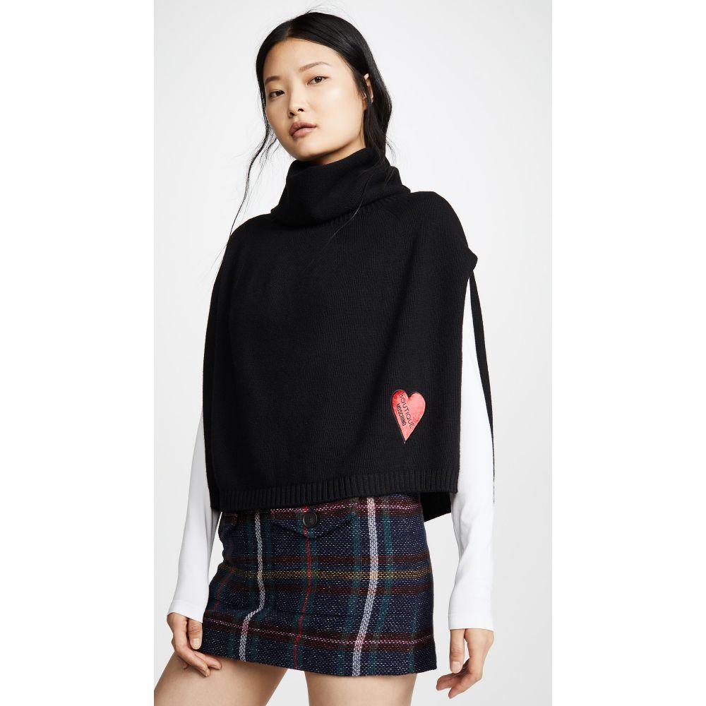 モスキーノ Moschino レディース ポンチョ アウター【Heart Logo Poncho】Black