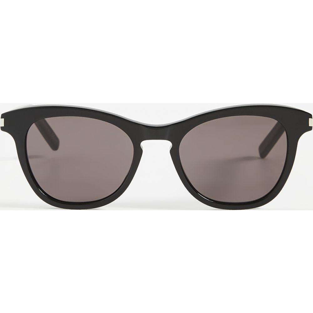 イヴ サンローラン Saint Laurent レディース メガネ・サングラス 【SL356 Sunglasses】Black/Black/Black