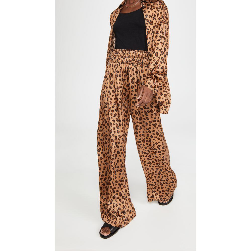 ロゼッタゲティー 爆安 レディース ボトムス パンツ その他ボトムス サイズ交換無料 Rosetta Getty Pants セールSALE%OFF Camel Leopard Waist Gathered
